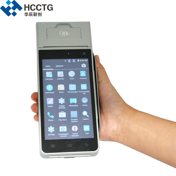 Restaurant GPRS 4G Wifi All In One POS Machine With Barcode Scanner HCC-Z90