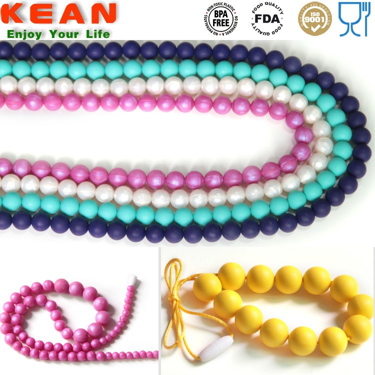 Food Grade Silicone Rubber Band Necklace Teething