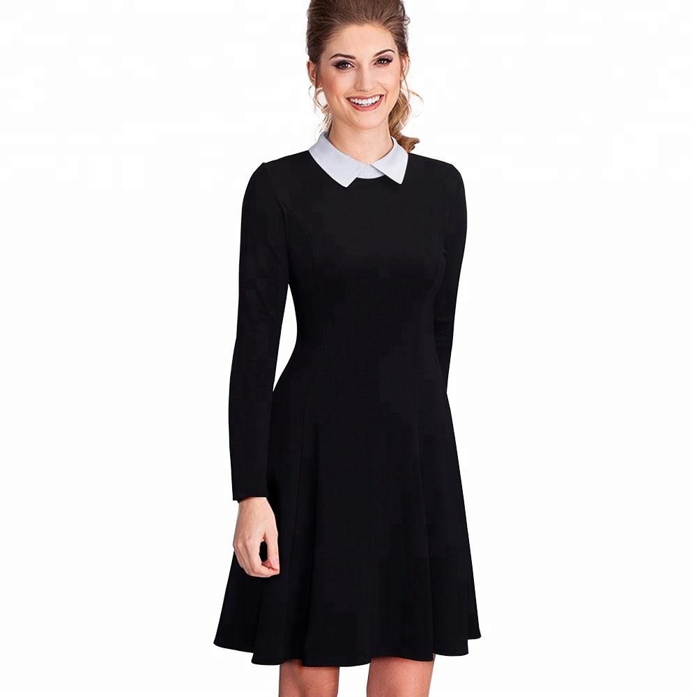 Venta al por mayor vestidos de fiesta color negro largos