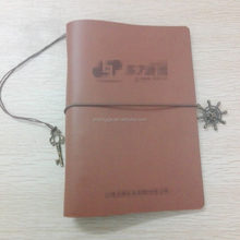 korean stationery reusable notebook vintage metal bookmark leather mini journal
