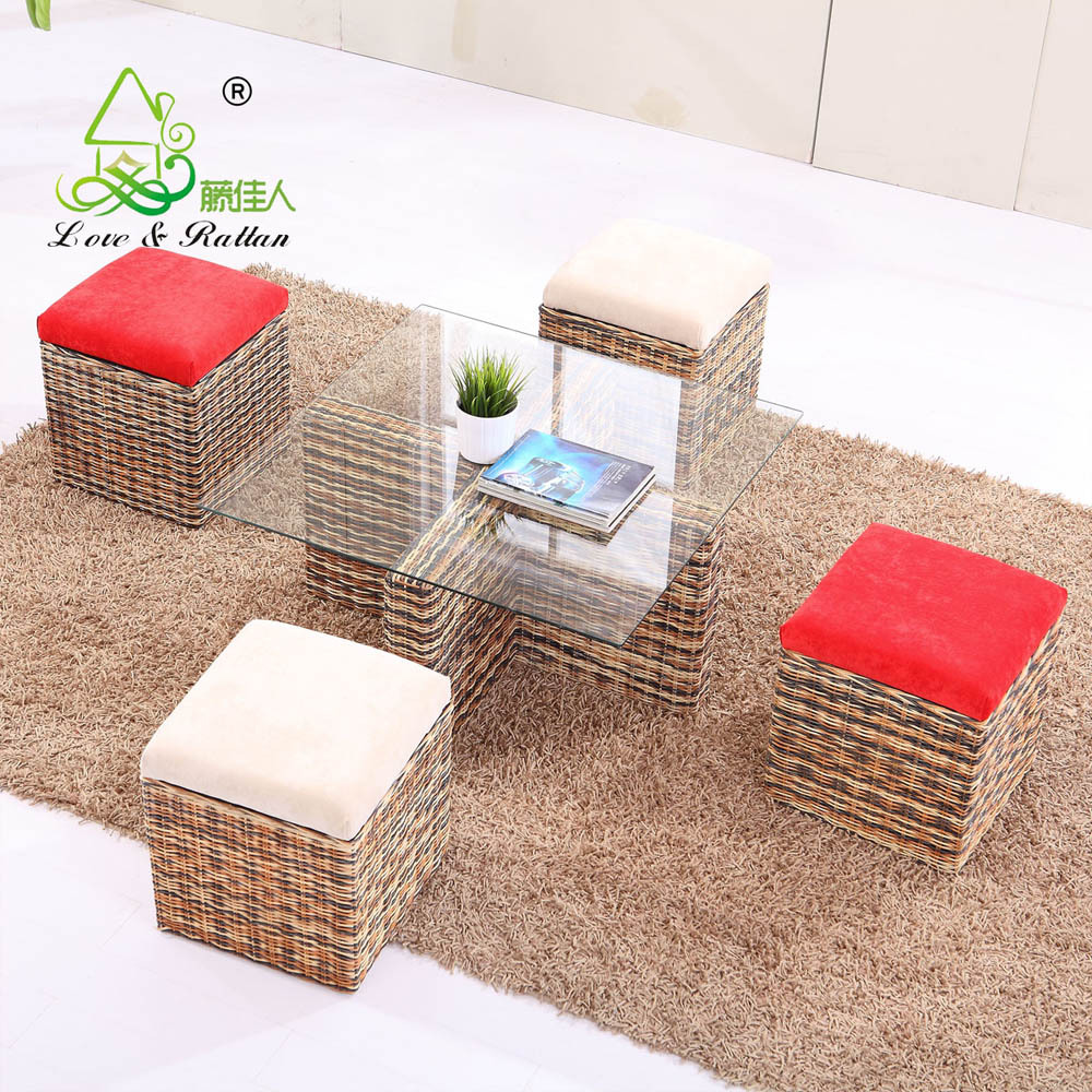 Wicker Living Room Furniture Best Selling Rattan Wicker Living Room Furniture New Model Two
