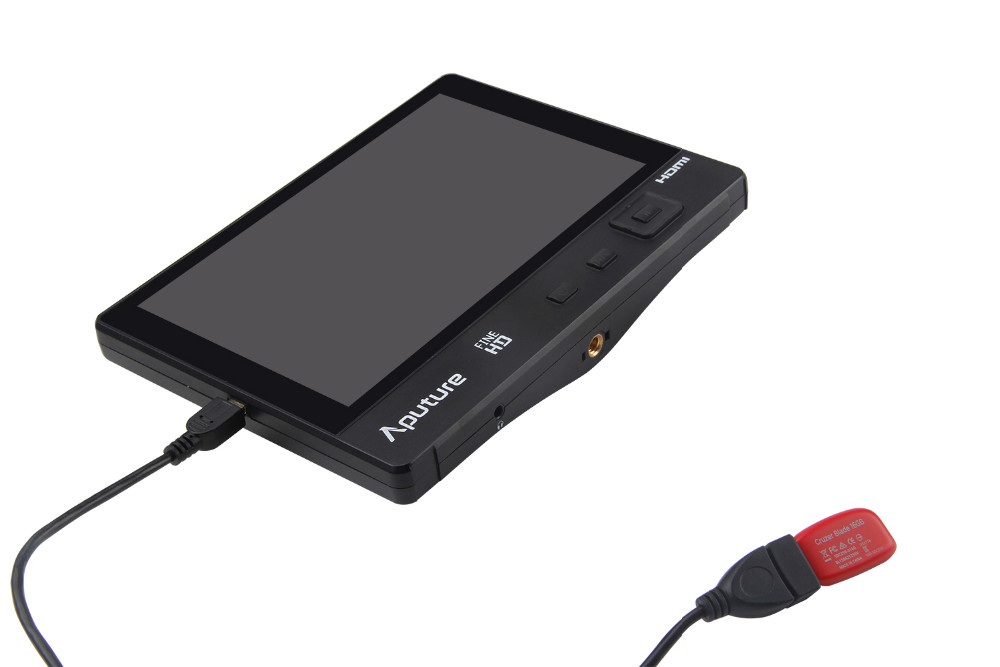 Aputure 7 inch lcd monitor Supports HDMI, YPbPr & AV signal inputs 1920*1200 HD video display monitor
