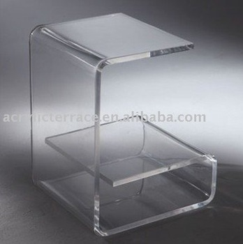 Superbe Curved Acrylic End Table