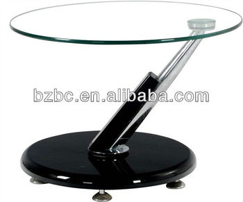 Small Round Swivel Gl Coffee Table Ct 475