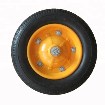 3.25-8 Durable Flat Free Wheel Tire For Wheelbarrow Lawn Tractor