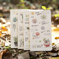 Fashion custom printing blank kraft eco recycled small paper notebook,notepad