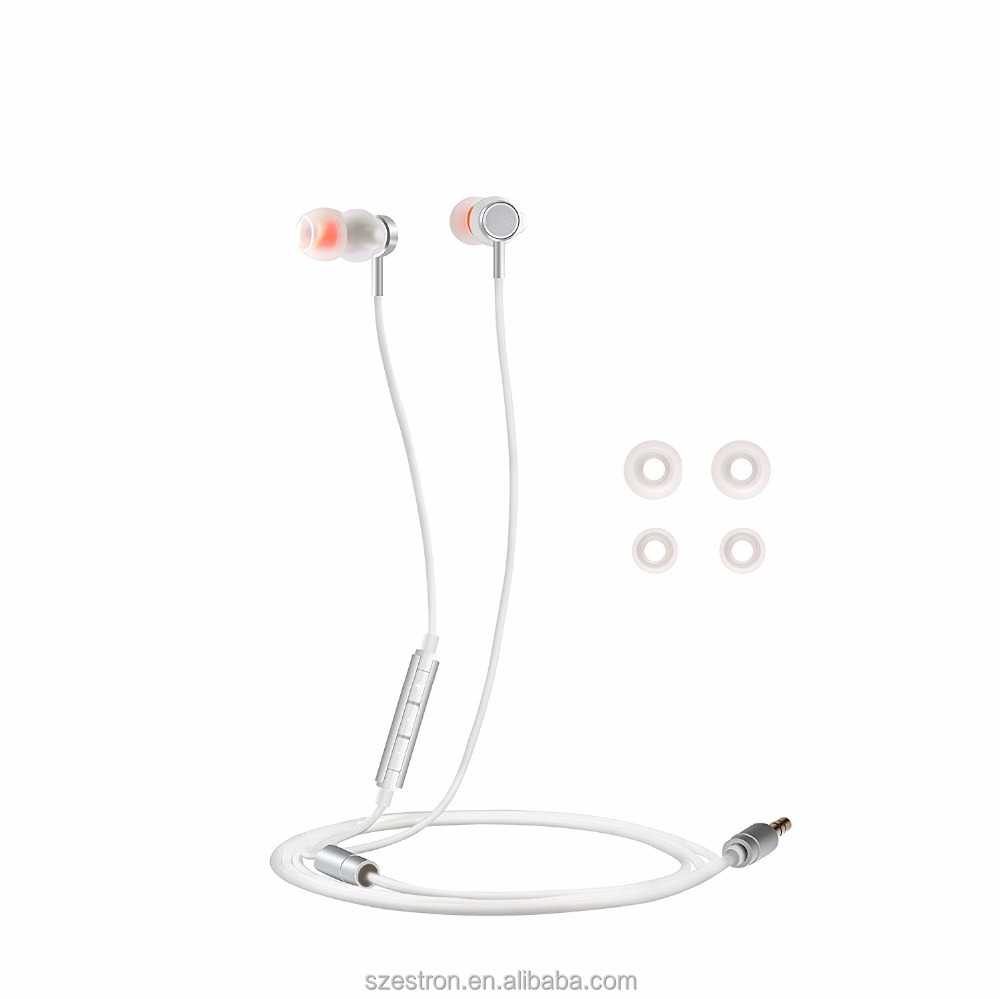 TIMMKOO Dual Drivers Earbuds High Definition In Ear Headphones with Mic Bass MP3 Earphones (White)