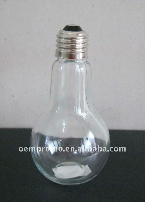 Empty Medium Light Bulb Candy Container, candy jar, storage jar/bottle