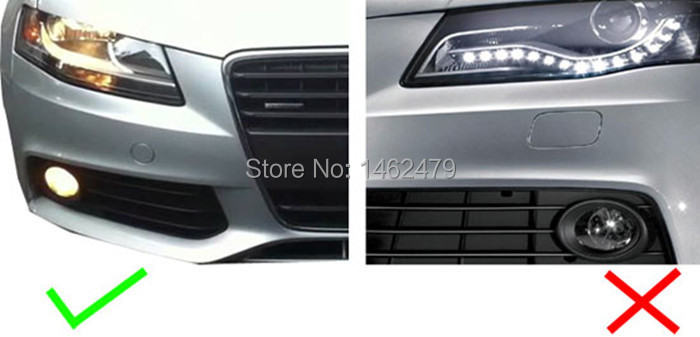 P13w White Xbd Chips Led Bulbs Daytime Running Lights For 2008 2012 Audi B8 Model A4 Or S4 With Halogen Headlight Trims