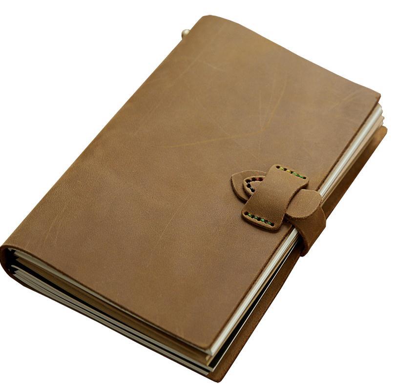 Di alta qualità del cuoio genuino copertina morbida notebook con chiusura in metallo