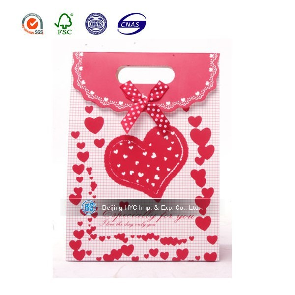 Red cute craft gift paper bag