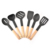 Stocked Feature Hot Sell Eco-Friendly Nylon and Wooden Handle Kitchen Utensils 6 Pieces