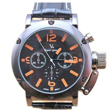 high quality brand V6 leather band japan movement wholesale watch V6