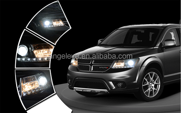for dodge journey jcuv fiat freemont led strip headlight. Black Bedroom Furniture Sets. Home Design Ideas