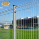 Extendable corten steel highway welded wire mesh fence with peach shape post
