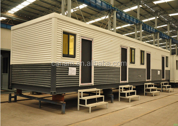 Plastic steel door and windows Prefabricated container living house