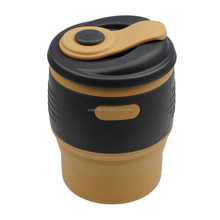 Personized Insulated Magic Silicone Folding Coffee Cup Coffee Mug with lids for gift