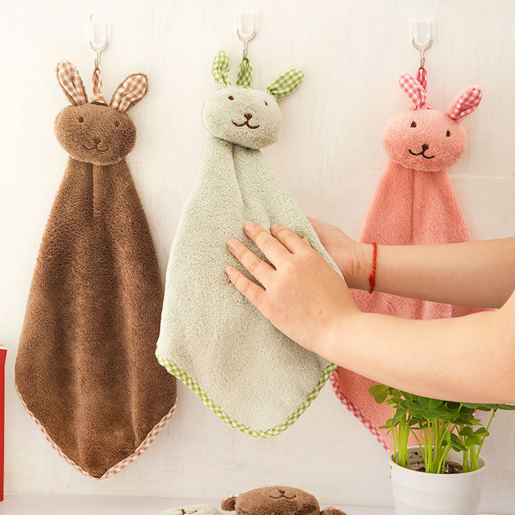 Dry Your Hands Quickly Kitchen Chenille Fiber Hand Towel Clean Absorbent Cloth