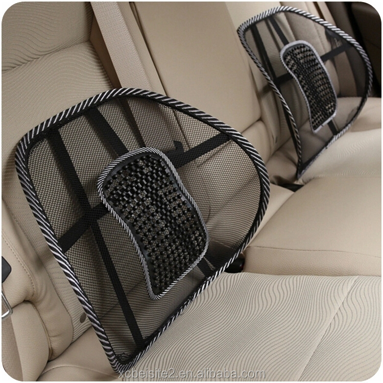 J510 New Car Seat Chair Massage Back Lumbar Support Mesh Ventilate Cushion Pad Black, Mesh Back Lumbar Cushion