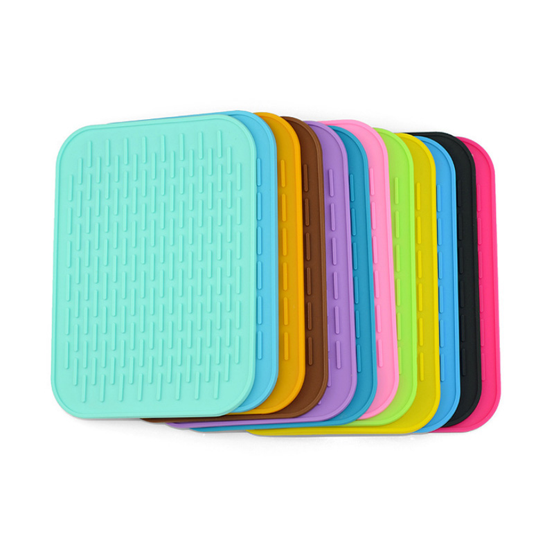 Plain Color Table Placemat Heat Insulation Silicone Baking Mats Household