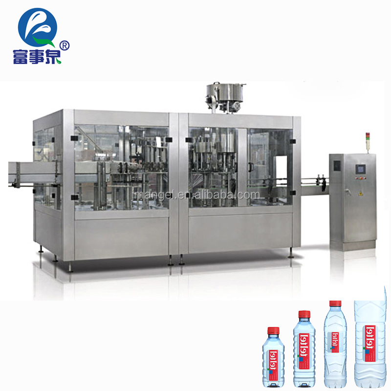 3in1 pet bottle water filling production line/3 in1 filler machine
