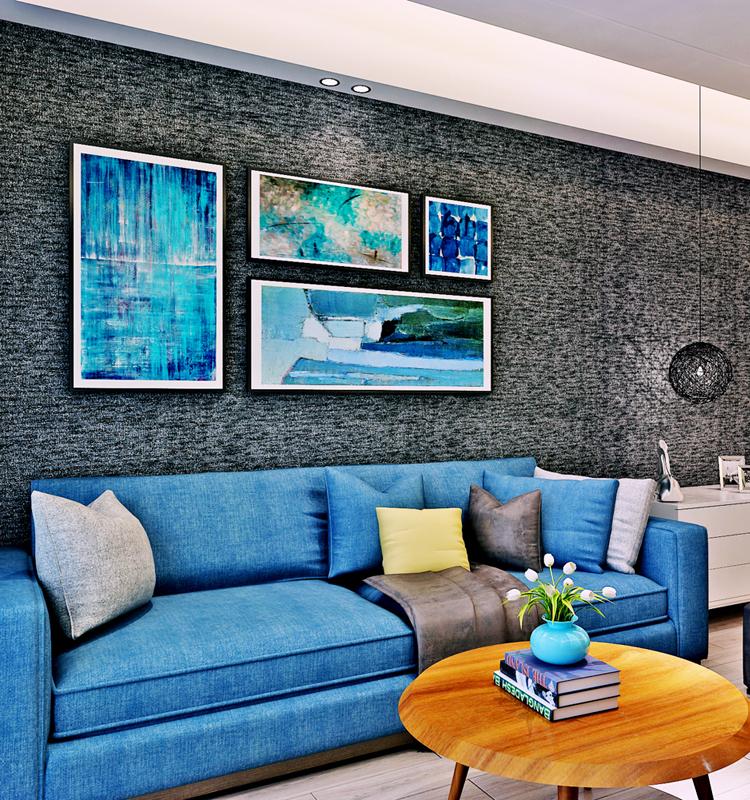 Sofa Background Durable Vinyl Wallpaper