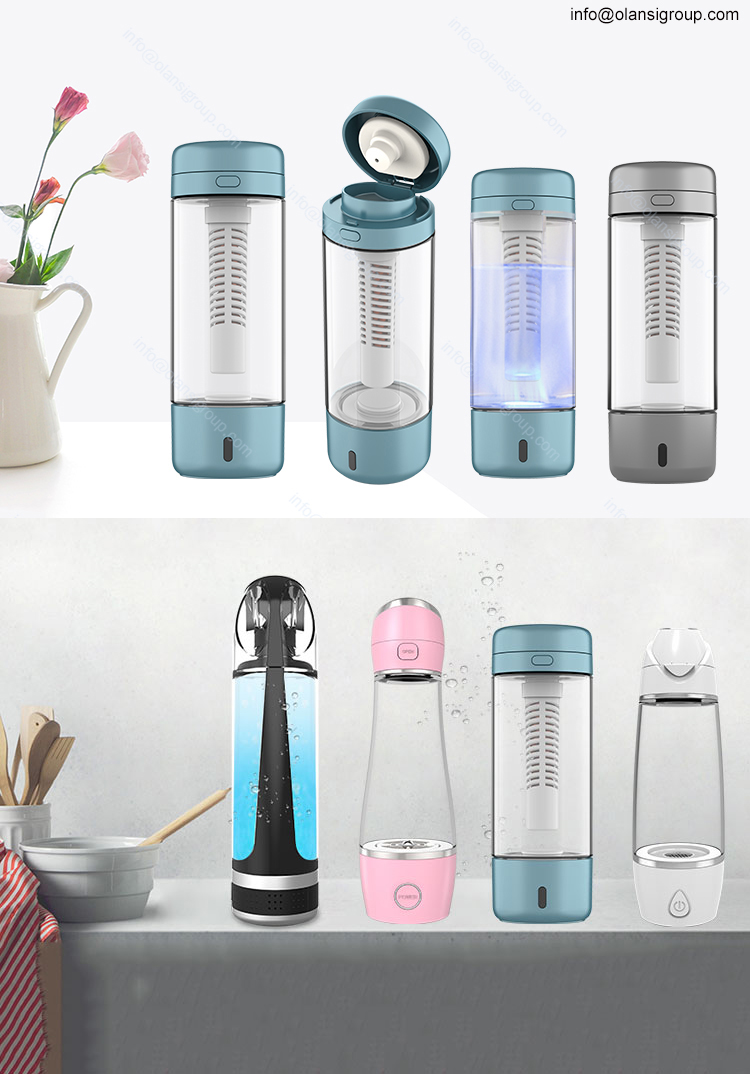 New Design Portable 350Ml Hydrogen Rich Water Maker Bottle Spe Active Hydrogen Water