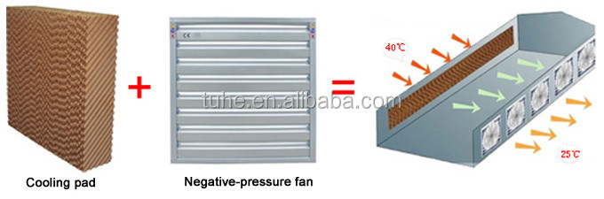 Greenhouse evaporative cooling pad 5090 cooling systems for poultry