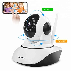 LOOSAFE 2MP IP Camera 1080P Wi-Fi Wireless Surveillance Camera P2P Security CCTV Network Baby Monitor Two Way Intercom IR