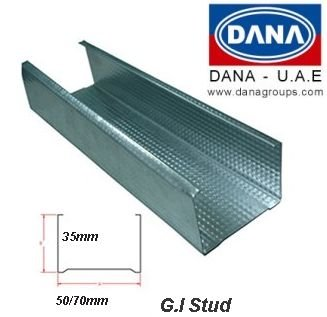 Dana Astm Galvanized Stud Uae/india/libya - Buy Galvanized Stud,G i  Stud,Stud Track Product on Alibaba com
