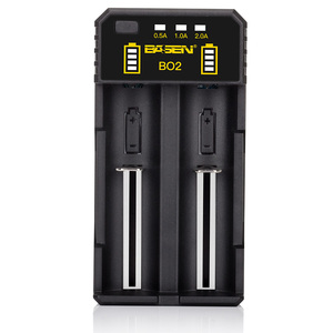 Basen BO2 18650 vape mod battery charger dual slots lithium ion battery 18650 cell charger