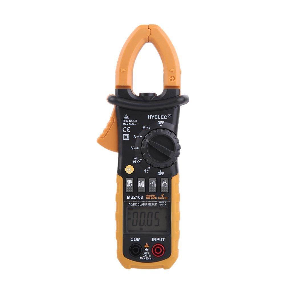 Clamp Meter, HYELEC MS2108 Professional Digital Clamp Meter AC Clamp Meter Digital Multimeter/ Backlight 6600 accounts