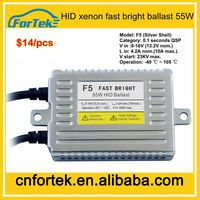 New products for car DLT F5 fast start HID ballast price AC 12V 55W for xenon headlight price