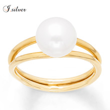 Fashion pearl ring designs pure 925 silver ring accessories jewelry R500735