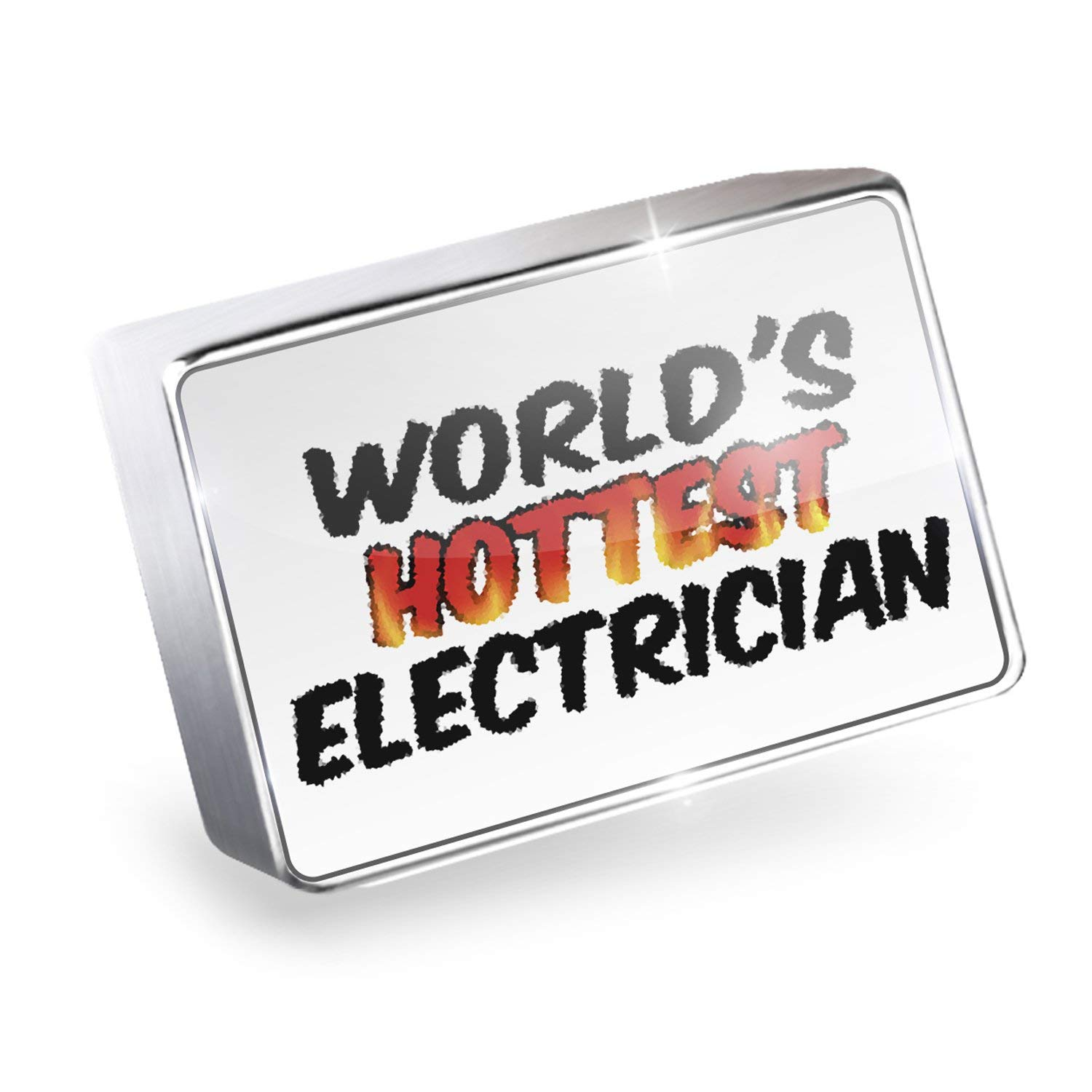 Floating Charm Worlds hottest Electrician Fits Glass Lockets, Neonblond