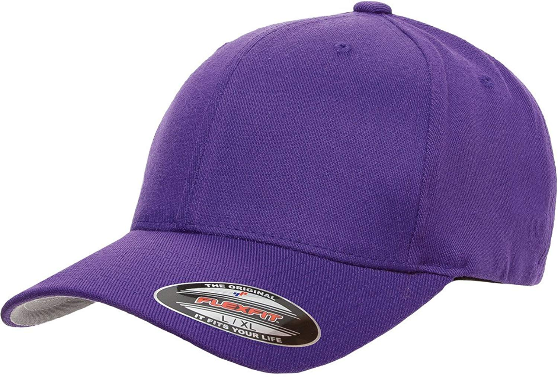 143d8016 Get Quotations · 6477 Flexfit Wool Blend Cap - Small/Medium (Purple)