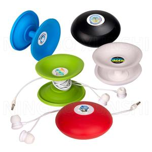 mini portable pocket personal silicone round mobile earbud tie retractable cable wire organizer holder desk earphone coil winder