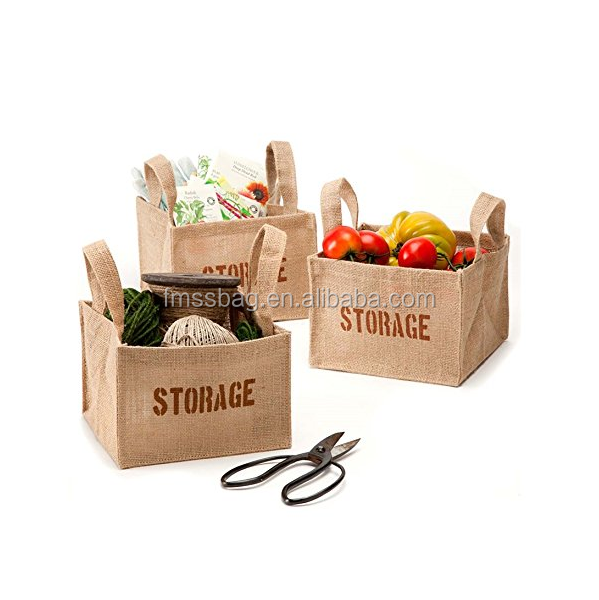 cheap wholesale Jute burlap Storage junk Bags with <strong>tote</strong>/jute shopping bag/carry jute box