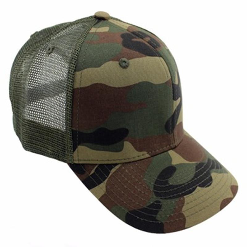 b6eebf1e7d9 Custom Blank Camouflage Trucker Cap Hat Camo Mesh Baseball Caps Men ...