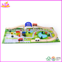 2016 new popular kids wooden train track,high quality wooden wooden train track,top sale wooden train track W04C009