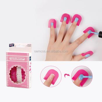 26pcs Curve Shape Spill Proof Finger Cover Nail Polish Protector Holder Set