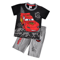 Guangzhou Children Garment Wholesale Brand Casual Clothing Fashion kids summer suit for Cartoon Car boy boutique clothing