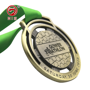 Cheap 3d zinc ally round award metal medals for schools