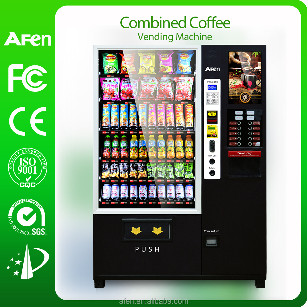 Hot Sale Top Afen dispensing machine 19 Inch LCD Advertising coffee Vending Machine