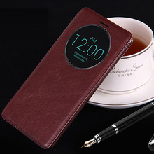 flip leather case cover for lg g4 original stylus pu  luxury support stand phone brand with window view case for lg g4 cases men