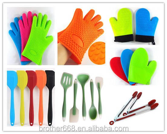 Silicone Cotton Gloves   Heat Resistant Oven Mitt For Grilling, BBQ, Kitchen    Safe