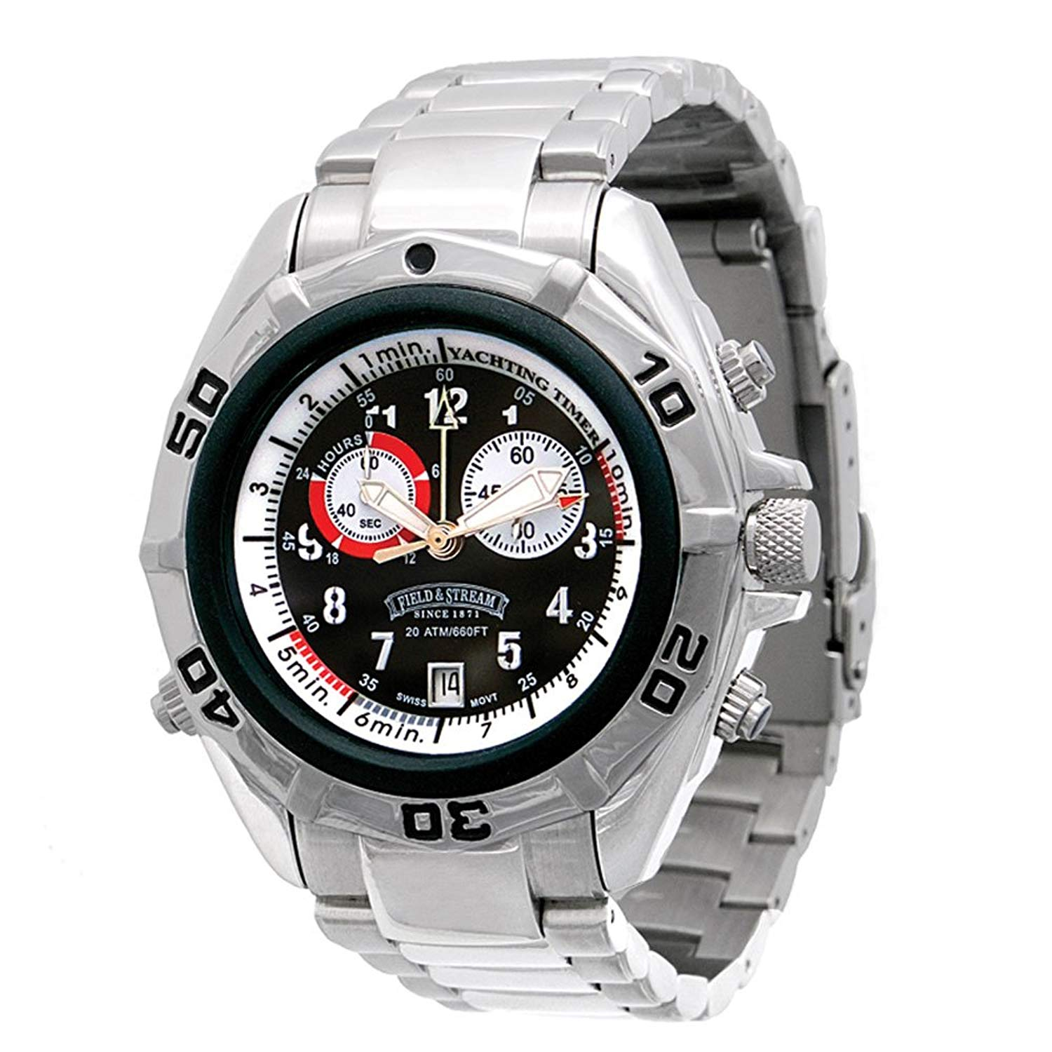 ab9219b82893 Get Quotations · Field   Stream Men s F185GKBSY Yachtsman Chronograph  Multi-Function Watch
