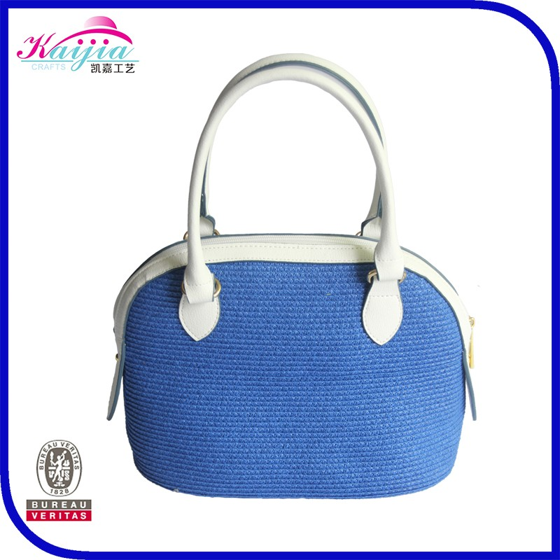 Best Quality Large Fancy Handbags Las Bag Designer Crocheted Straw Tote Handbag