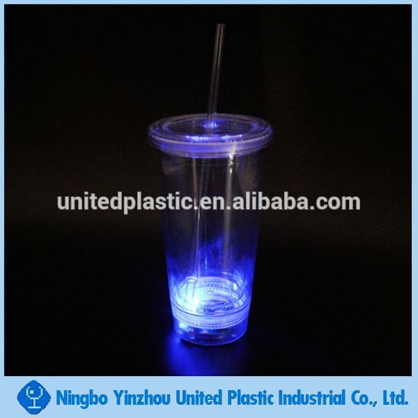 United Plastic double wall tumbler with LED lights
