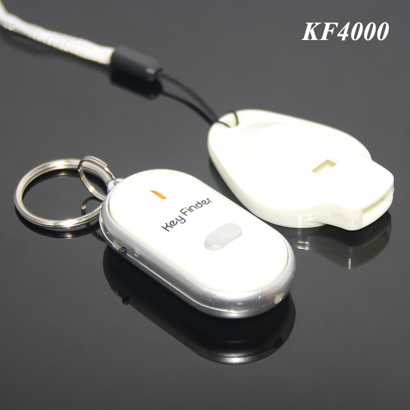 Hot Sale Wholesale Colorful LED Plastic Keyfinder Gift Set Locator Find Lost Keys Whistle Electronic Sound Control Key Finder